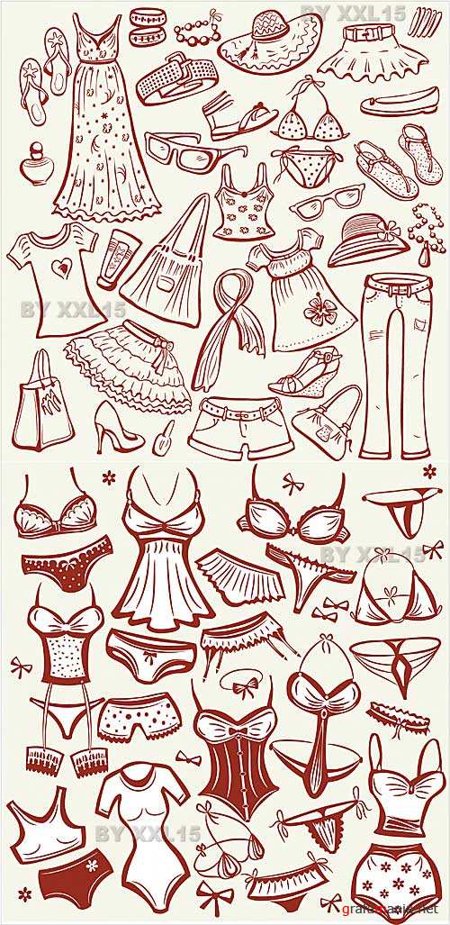 Summer women clothes and lingerie