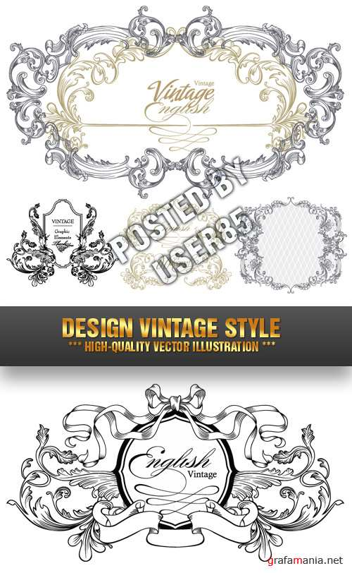 Stock Vector - Design Vintage Style