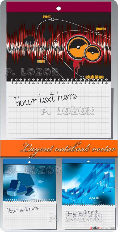 Layout notebook vector