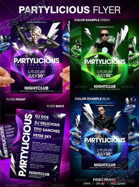 Graphicriver Partylicious Party Flyer 160229