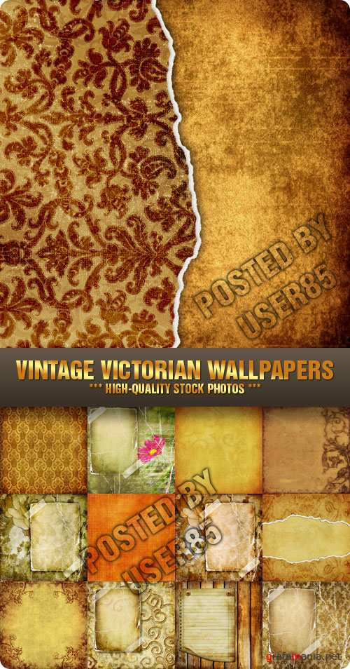 Stock Photo - Vintage Victorian Wallpapers