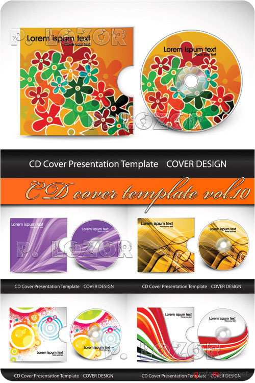 CD cover template vol.10