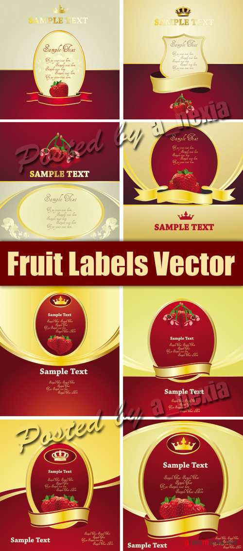 Fruit Labels Vector