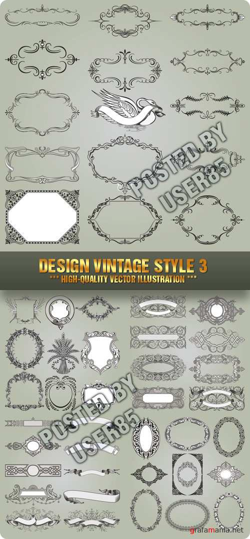 Stock Vector - Design Vintage Style 3
