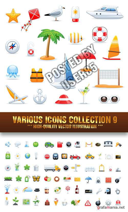 Stock Vector - Various Icons Collection 9
