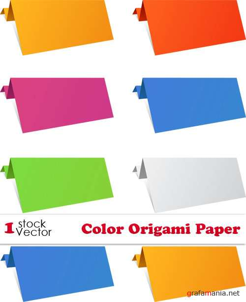 Color Origami Paper Vector