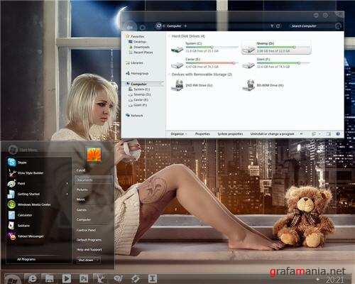 Meteora x86 and x64 Theme for Windows 7