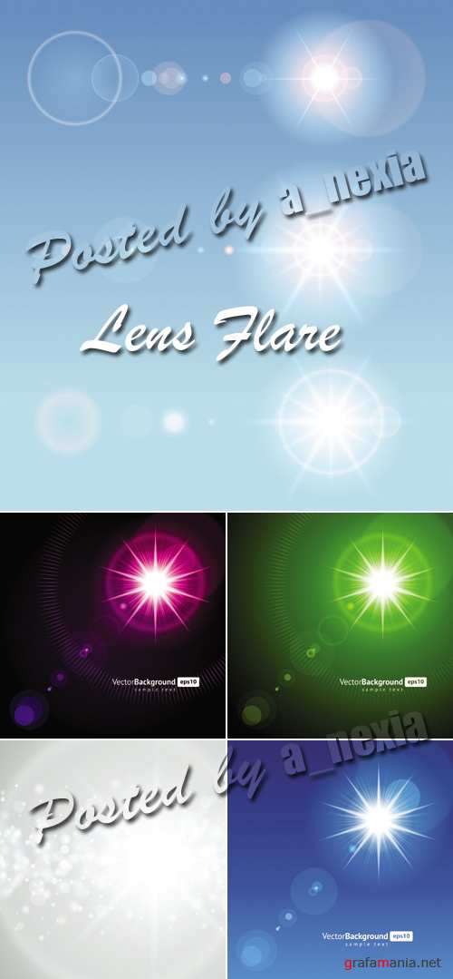 Lens Flare Backgrounds Vector
