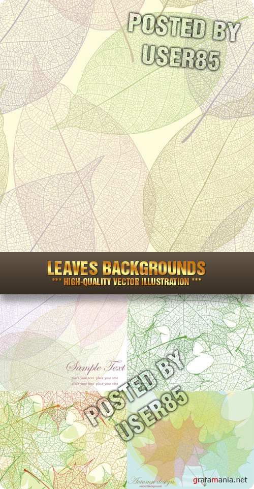 Stock Vector - Leaves Backgrounds