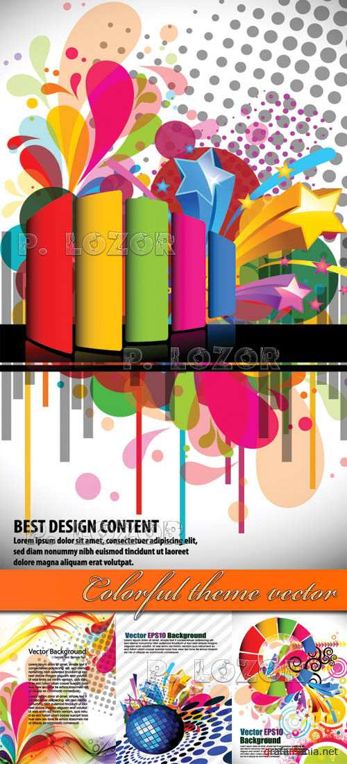 Colorful theme vector