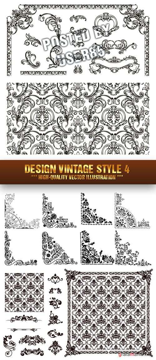 Stock Vector - Design Vintage Style 4