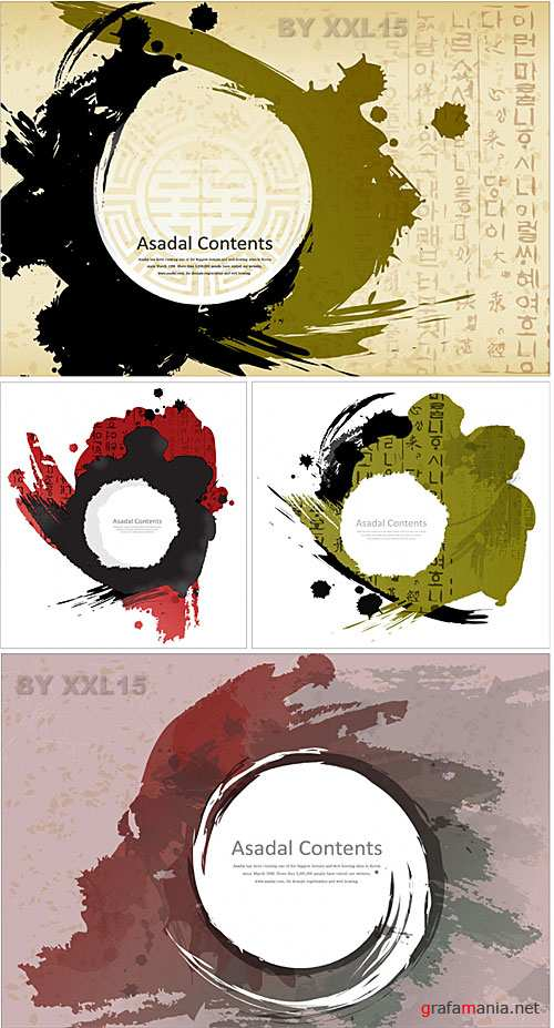 Grunge paint backgrounds