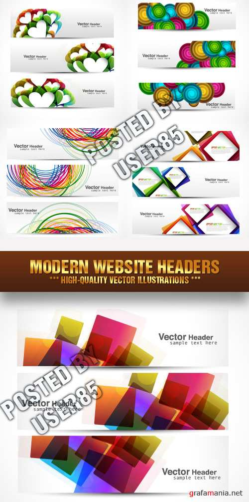 Stock Vector - Modern Website Headers
