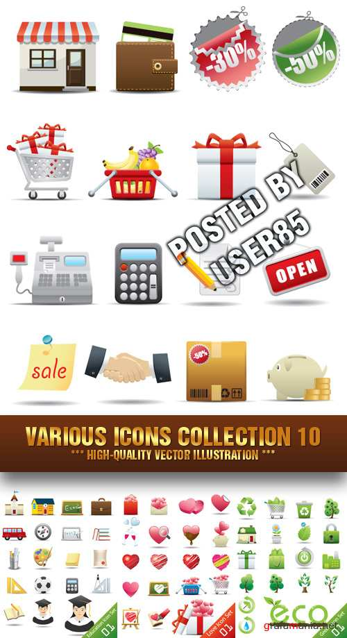 Stock Vector - Various Icons Collection 10