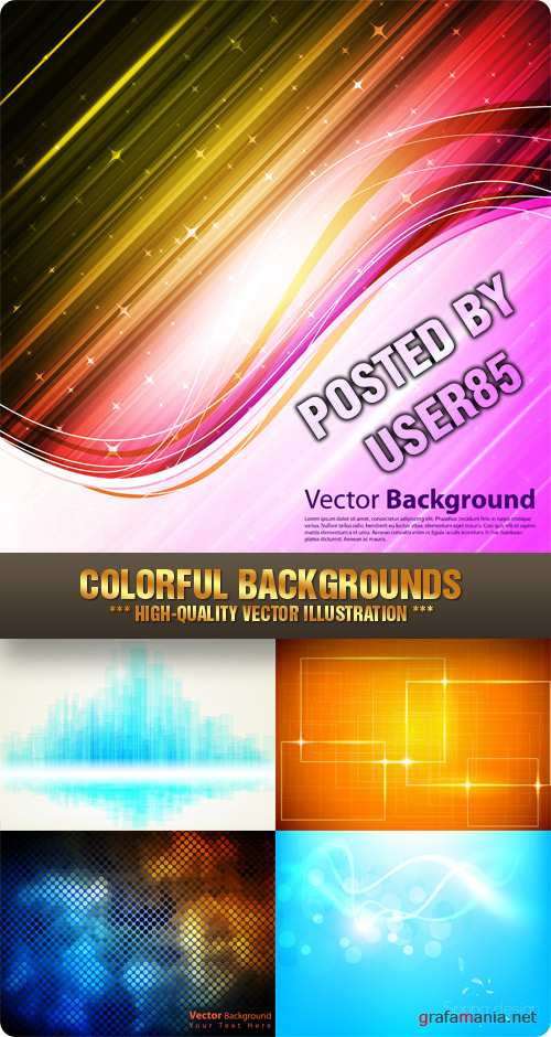 Stock Vector - Colorful Backgrounds