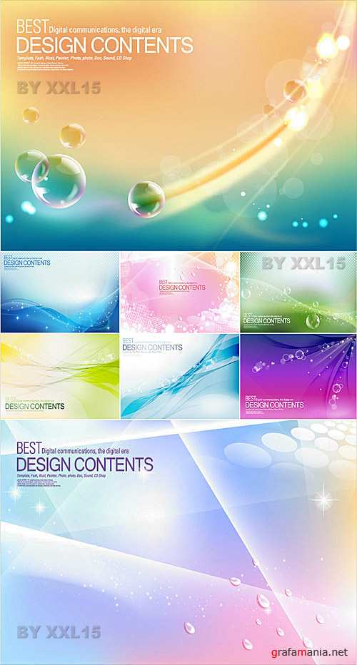 Abstract backgrounds set 2
