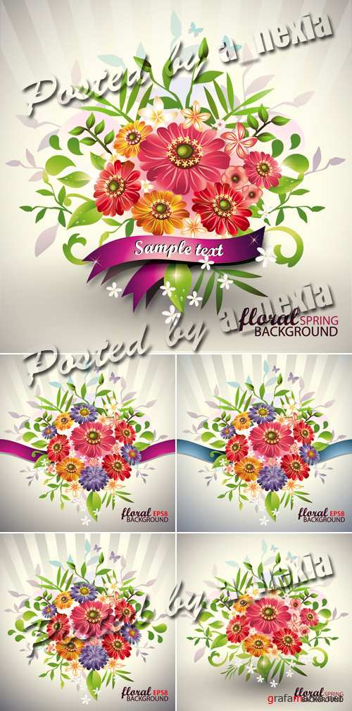 Lovely Flowers Bouquet Vector