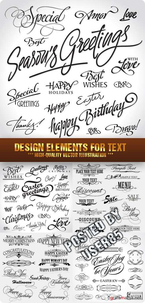 Stock Vector - Design Elements for Text