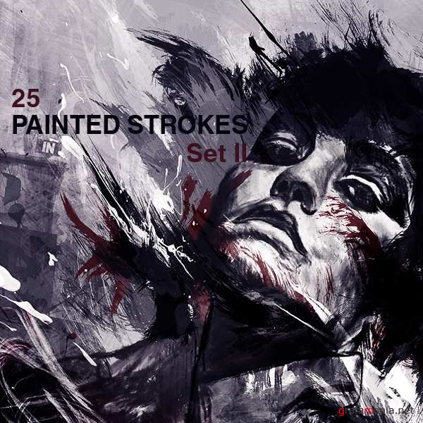 High-Res Paint Strokes: BrushSet II