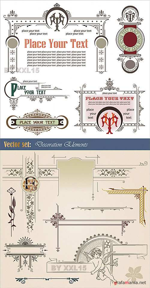 Different decorative elements 2