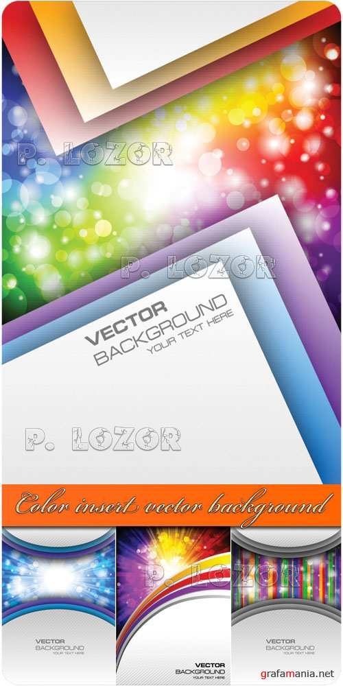 Color insert vector background