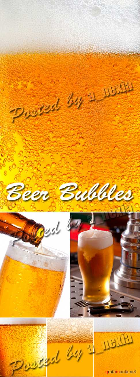 Stock Photo - Beer Bubbles