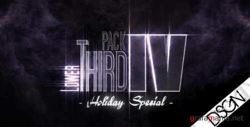 VideoHive Lower Third Pack Vol.4 HOLIDAY SPECIAL 122531