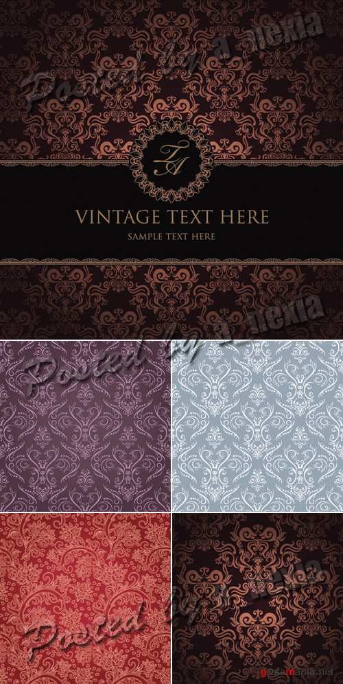Damask Seamless Patterns Vector 2