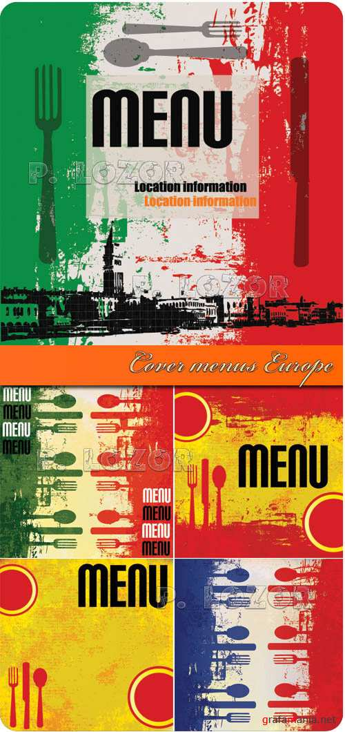 Cover menus - Europe