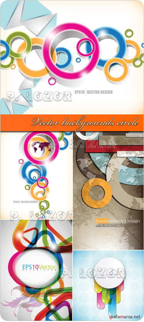 Vector backgrounds circle
