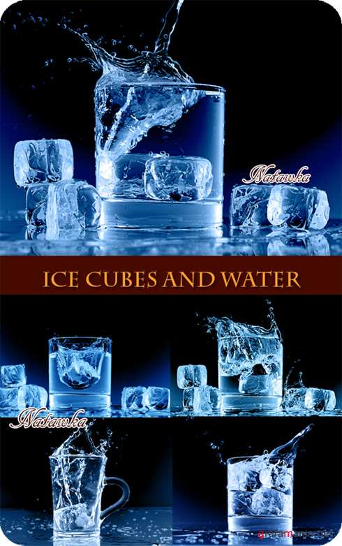 Ice Cubes and Water - Stock Photos