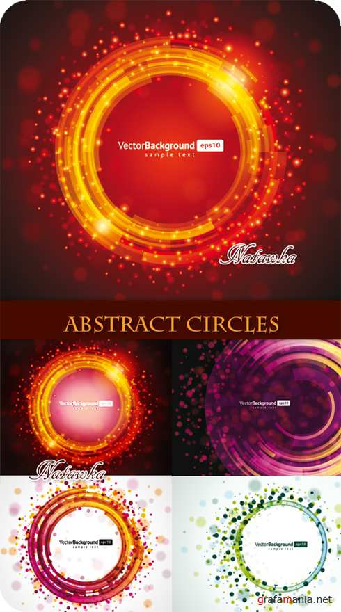 Abstract Circles - Stock Vectors