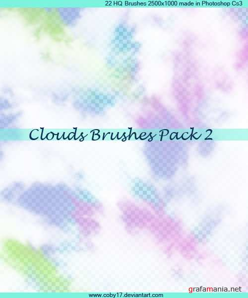 Clouds HQ Brushes Pack 2