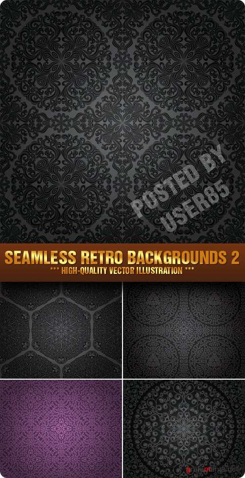 Stock Vector - Seamless Retro Backgrounds 2
