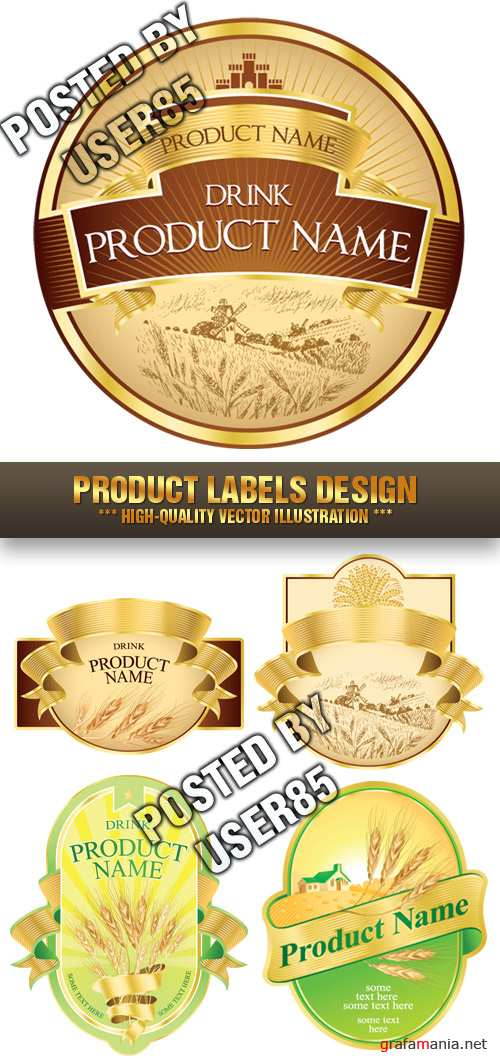 Stock Vector - Product Labels Design