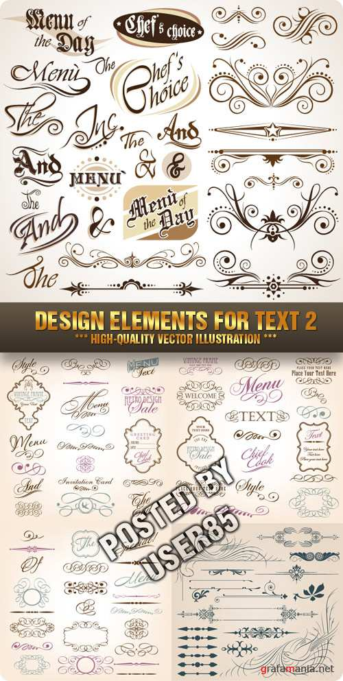 Stock Vector - Design Elements for Text 2