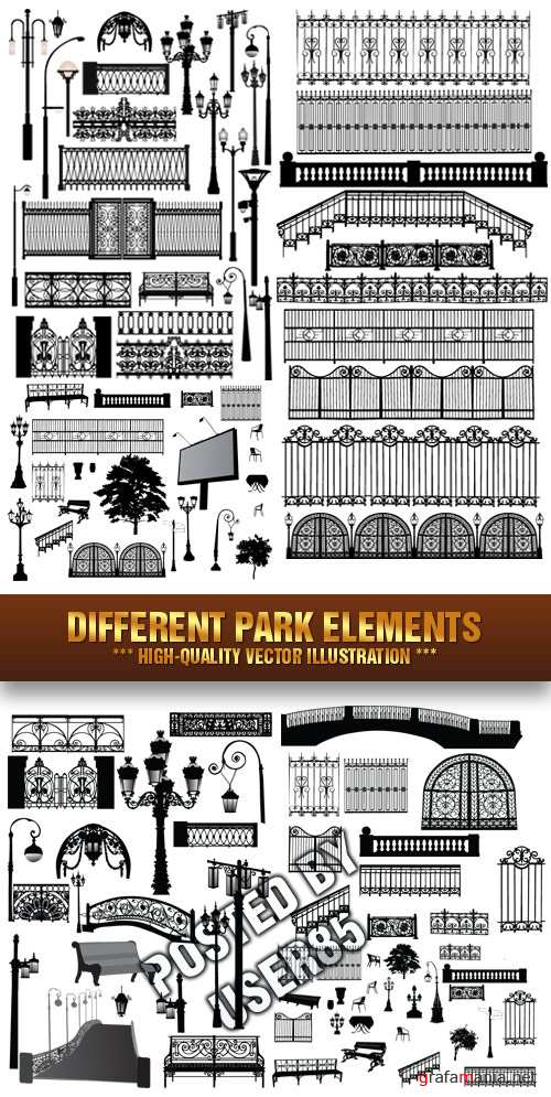 Stock Vector - Different Park Elements