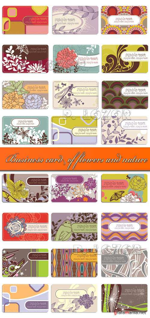 Business card of flowers and nature