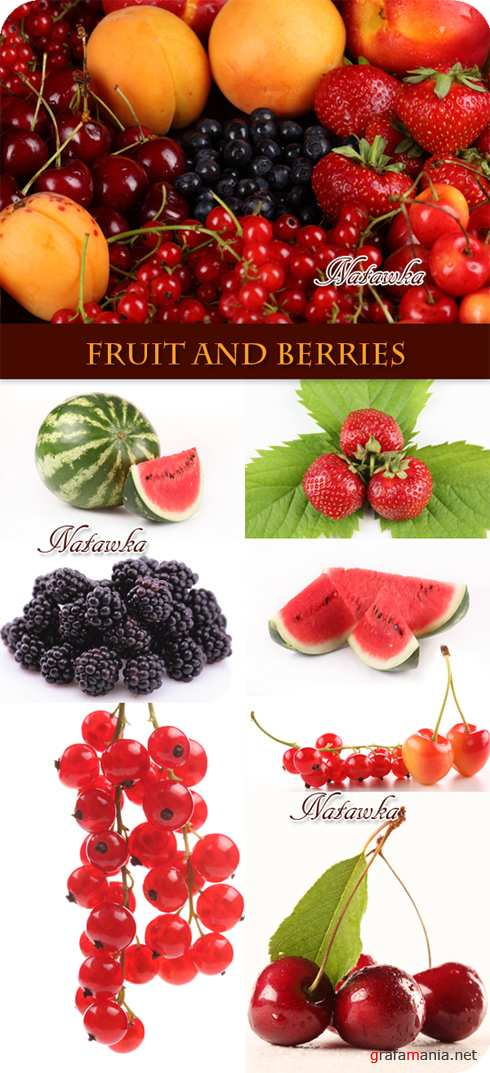Fruit and berries - Stock Photo