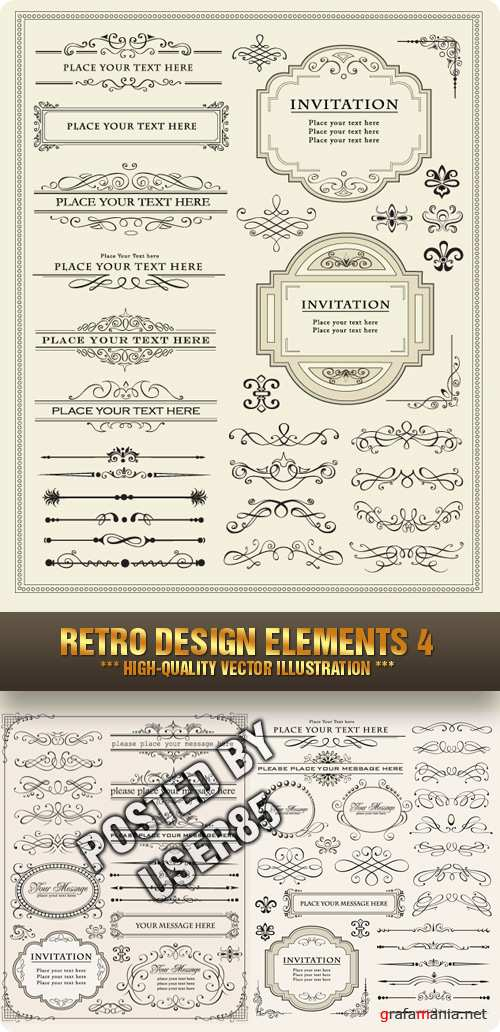 Stock Vector - Retro Design Elements 4