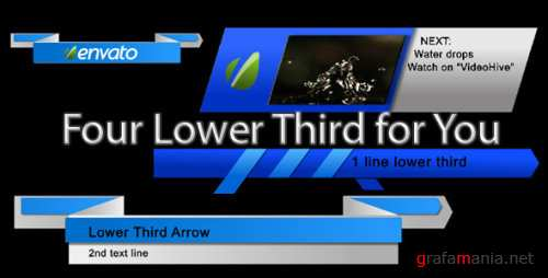 VideoHive The Ribbons Lower Third 299848