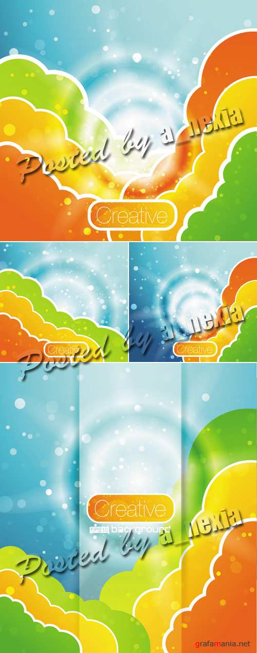 Color Clouds Vector