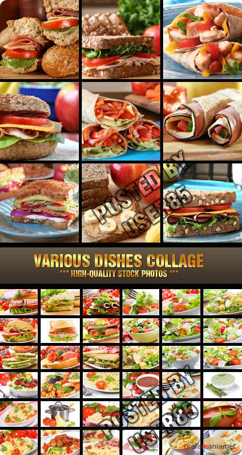 Stock Photo - Various Dishes Collage
