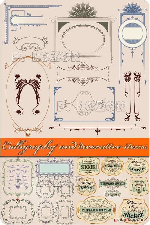 Calligraphy and decorative items