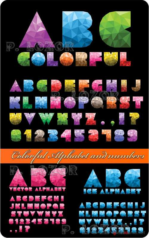 Colorful Alphabet and numbers 2