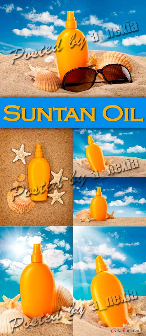 Stock Photo - Suntan Oil