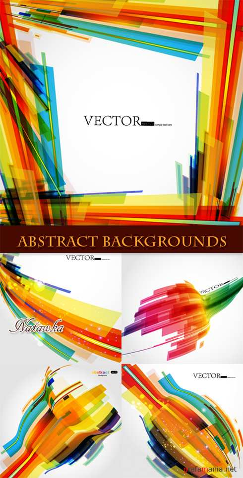 Color Abstract Backgrounds - Stock Vectors
