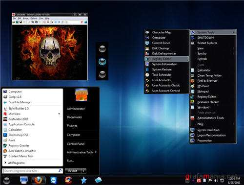 Black Touch Final Theme for Windows 7