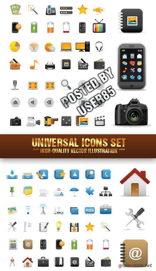 Stock Vector - Universal Icons Set