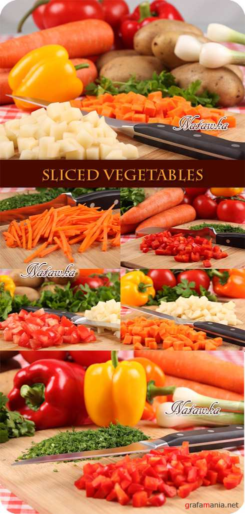 Sliced vegetables - Stock Photo